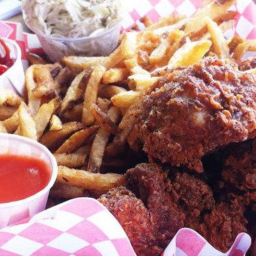 Stockyards fried chicken dinner at The Stockyards