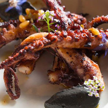 Grilled octopus at Dirty Habit