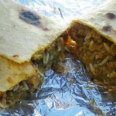 Punjabi burrito at Avatars Restaurant