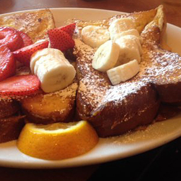 Stuffed Nutella french toast at Sound Bites