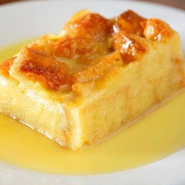White chocolate bread pudding at Grand Isle Restaurant