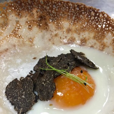 Egg hoppers with truffles at 1601 Bar & Kitchen