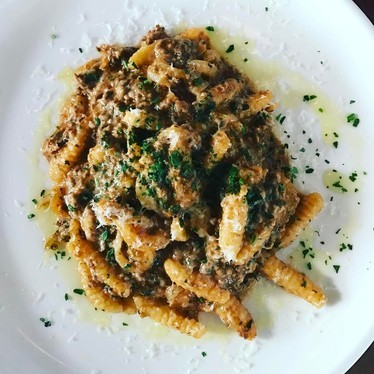 Chicken liver, house-made cavatelli, parm at Periphery