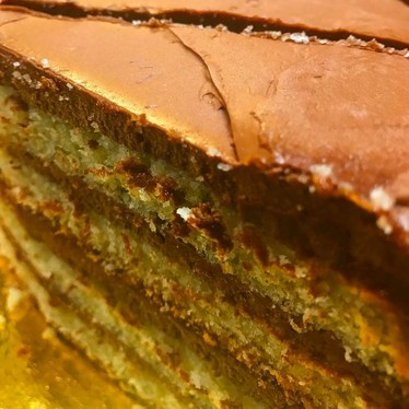 Yellow cake with chocolate buttercream  at Butter